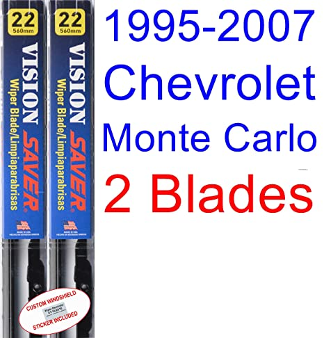 1995-2007 Chevrolet Monte Carlo Replacement Wiper Blade Set/Kit (Set of 2