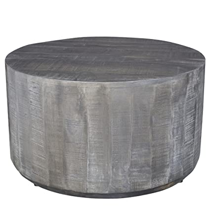 Amazoncom Worldwide Homefurnishings Inc Eva Grey Wood Coffee - Grey distressed wood coffee table
