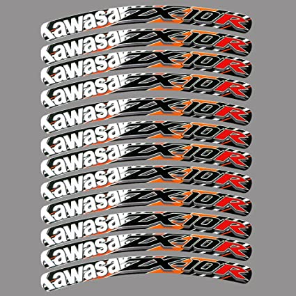 Kawasaki ZX10R NINJA llanta gráficos adhesivos naranja ZX 10 ...