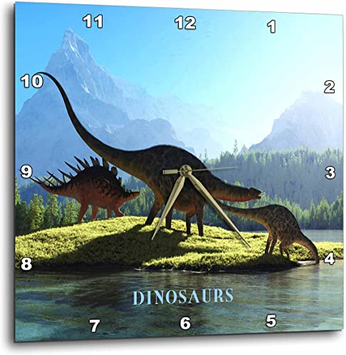 3dRose dpp_62326_3 When Dinosaurs Roamed The Earth-Wall Clock, 15 by 15-Inch