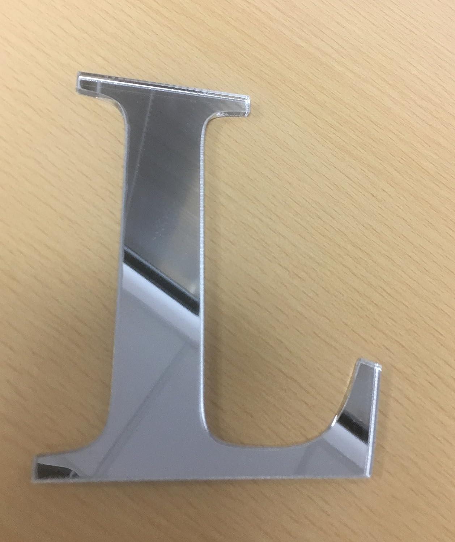 Lettera adesiva R in specchio acrilico spessore mm.3 Altezza cm.10 plexiglass
