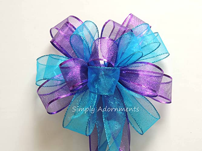 Amazoncom Purple Blue Peacock Wedding Pew Bow Turquoise Purple