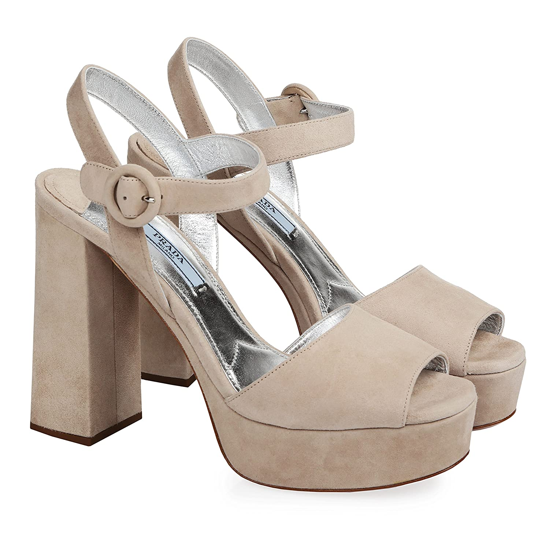 - by Prada Prada Women shoes Pumps Heeled Sandals EU 37 (US 7)   EU 40 (US 10) 100% Authentic Beige