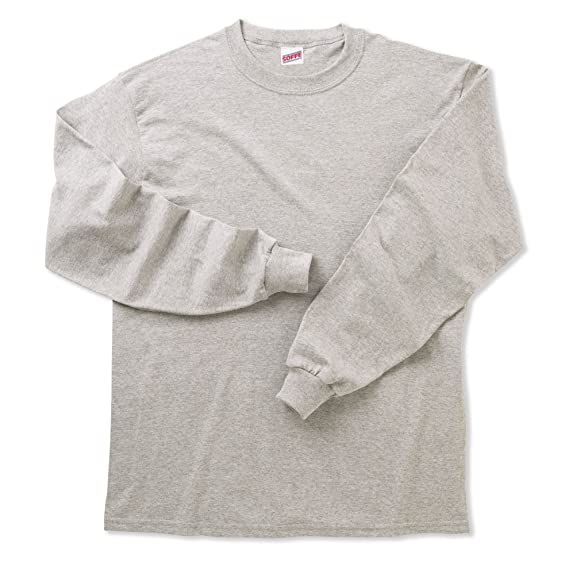 6a11c89a6dc3 Amazon.com  Soffe Big Boys  Long Cotton Sleeve T-Shirt  Athletic ...
