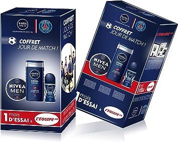 Nivea Men estuche de colección Paris Saint-Germain Cool Kick productos estrella + 1 mes de prueba a lEquipe Premium: Amazon.es: Salud y cuidado personal