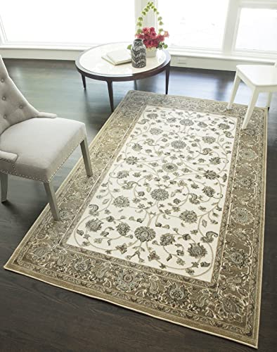 Rugs America RV100A Area Rug, 8 x 10 , Ivory Tan