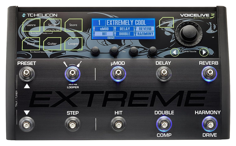 TC Helicon VOICELIVE 3 EXTREME - Pedalera multiefectos de suelo para guitarra, automatización de efectos, hasta 500 presets: Amazon.es: Instrumentos ...