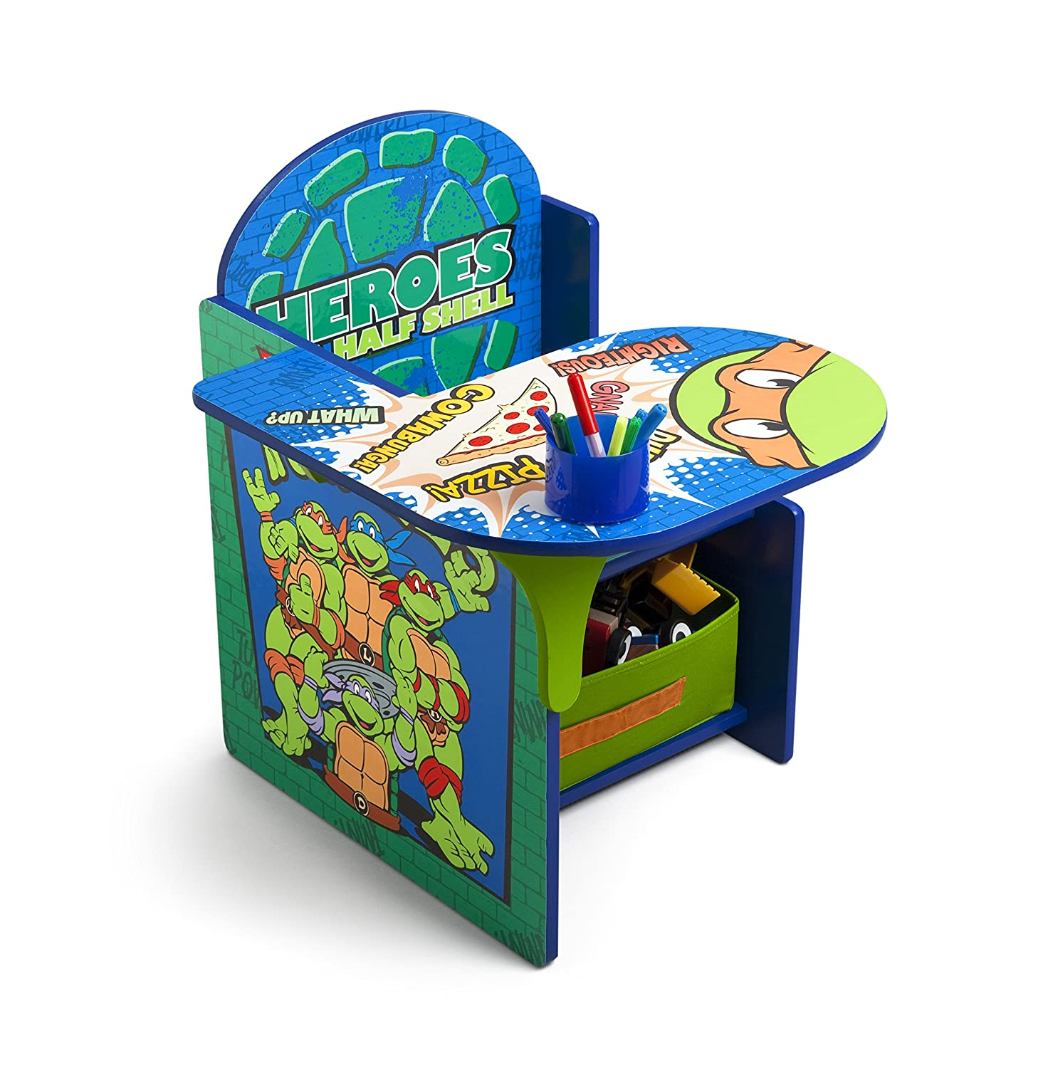 Wonderful Delta Children Chair Desk With Storage, Nickelodeon Ninja Turtles:  Amazon.in: Baby