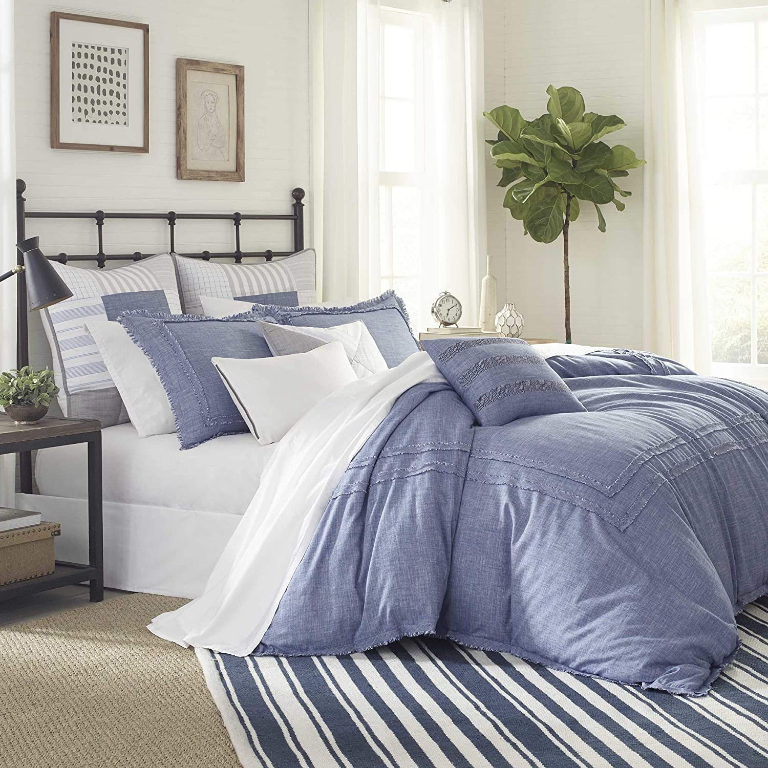 Southern Tide Home Bayview Comforter Set, Twin, Blue