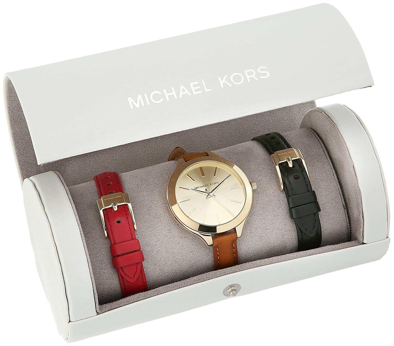 Amazon.com: Michael Kors Women's Slim Runway Gift Set Watch MK2606 ...