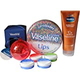 Vaseline Skin Care and Lip Therapy Bundle – 200ml Healing Serum + 5 Healthy Lips Petroleum Jelly