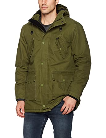 Amazon.com: RVCA Men's Ground Control Parka Jacket: Clothing