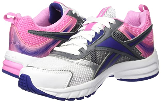 Reebok Pheehan Run 4,0 Chaussures de Running Femme, Blanco/Rosa/Azul/Gris (White/Icono Pink/Night Beacon/Alloy/Silv), 37 EU