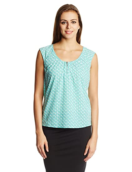 United Colors of Benetton Women's Printed Top Tops at amazon