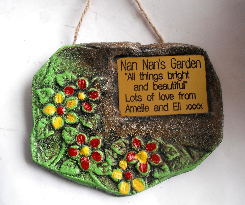 Personalised Engraved Garden Sign / Plaque. Unique design - hand ...