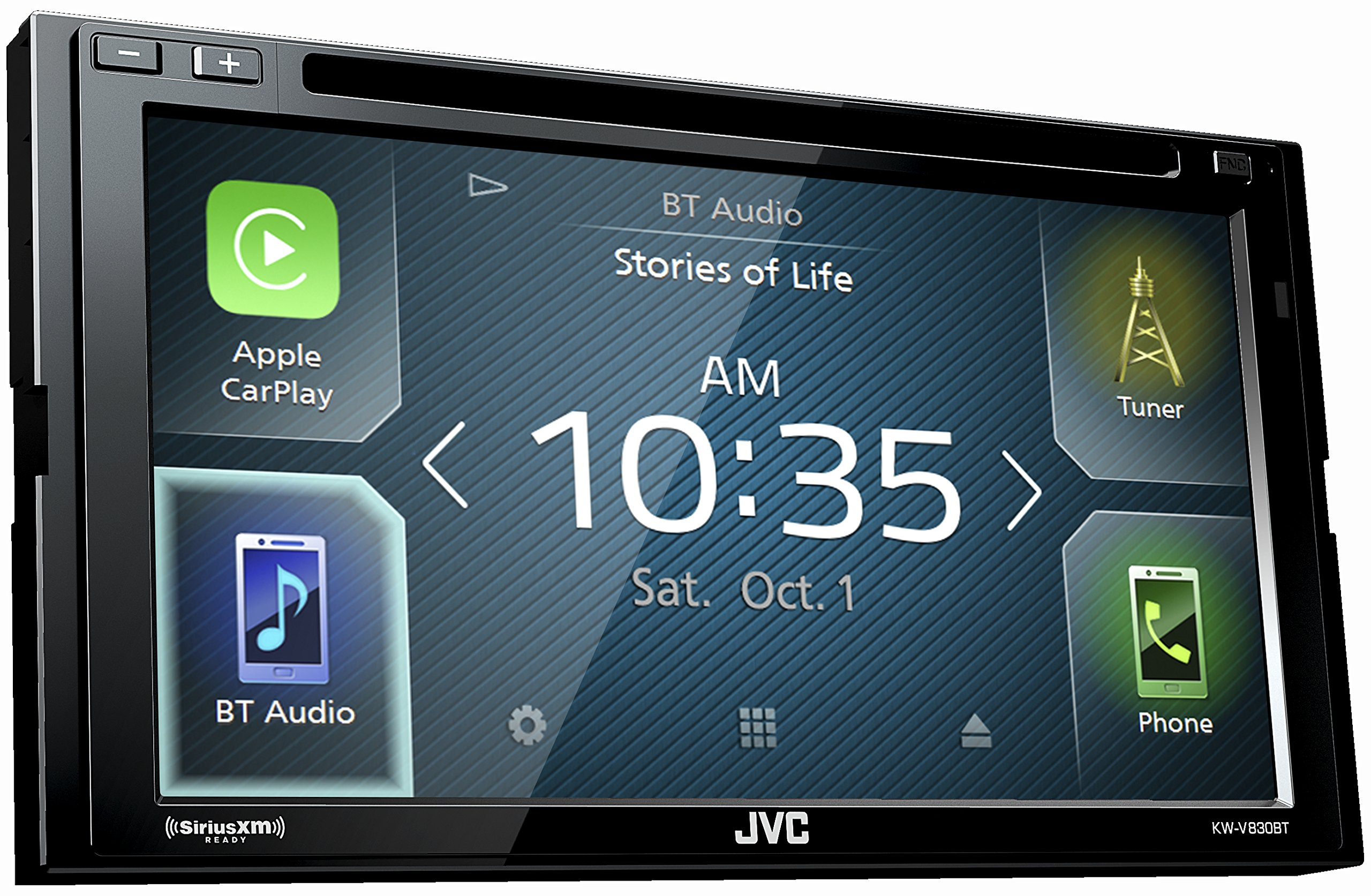 JVC KW-V830BT Double DIN Bluetooth In-Dash DVD/CD/AM/FM Car Stereo Receiver w/ 6.8'' Touchscreen LCD Display, Apple Car Play, Android Auto