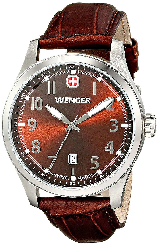 Wengerメンズ 01.0541.119 Terragraph 3H アナログディスプレイ スイスクォーツ 腕時計 ブラウン B00JQG80SS