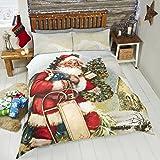 Rapport Set copripiumino di Babbo Natale in poliestere-cotone, multicolore, per letto matrimoniale king size