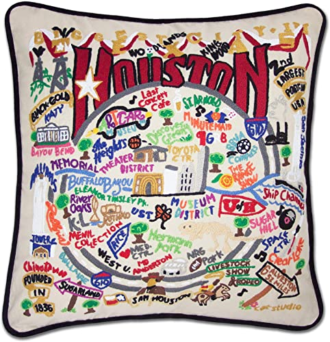 Catstudio Houston Embroidered Decorative Throw Pillow