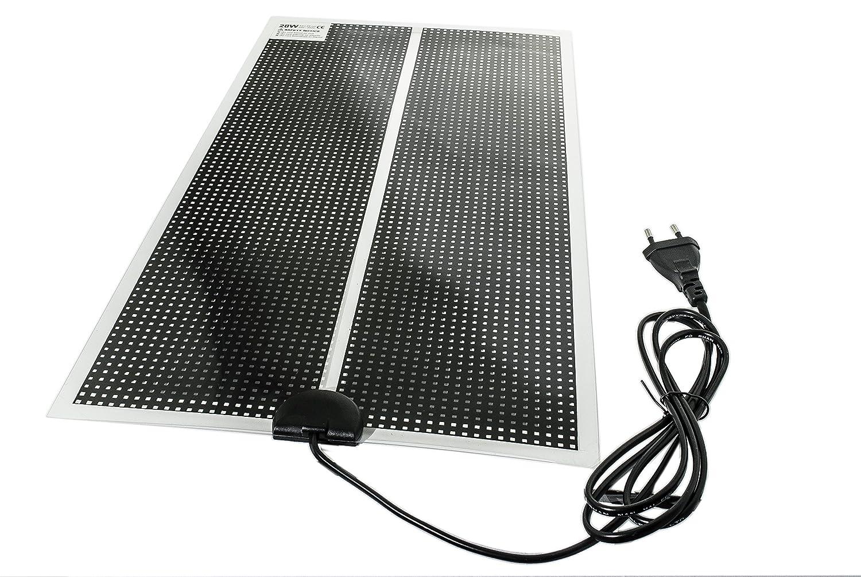 Tapis chauffant ou -tapis de chaleur pour terrariums-ultra-plat avec câble d'alimentation de 150 cm avec prise Européenne 230V Dragon