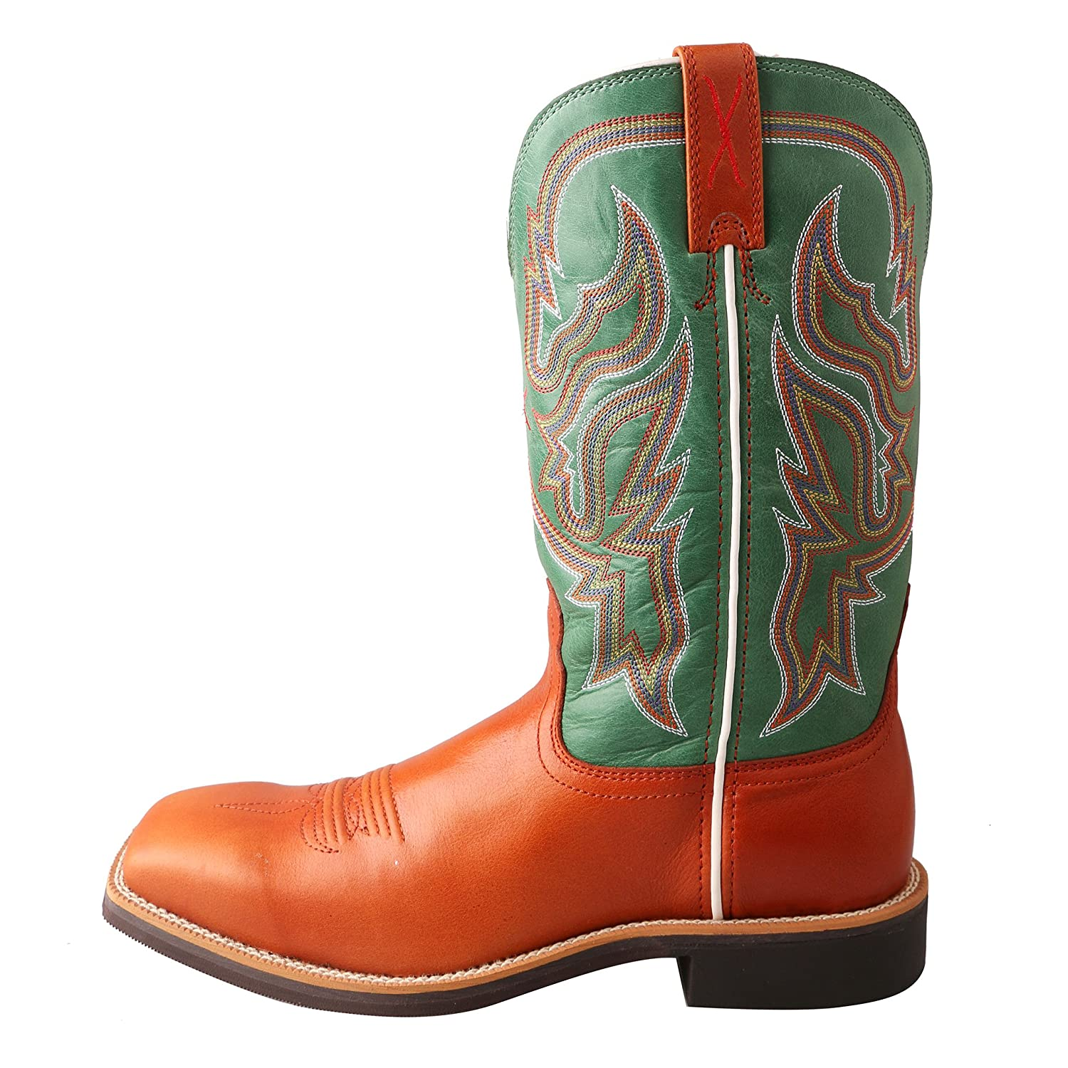 Twisted X Women's Neon Green Top Hand Cowgirl Boot Square Toe - Wth0007 B01ES0RFCS 11|Cognac