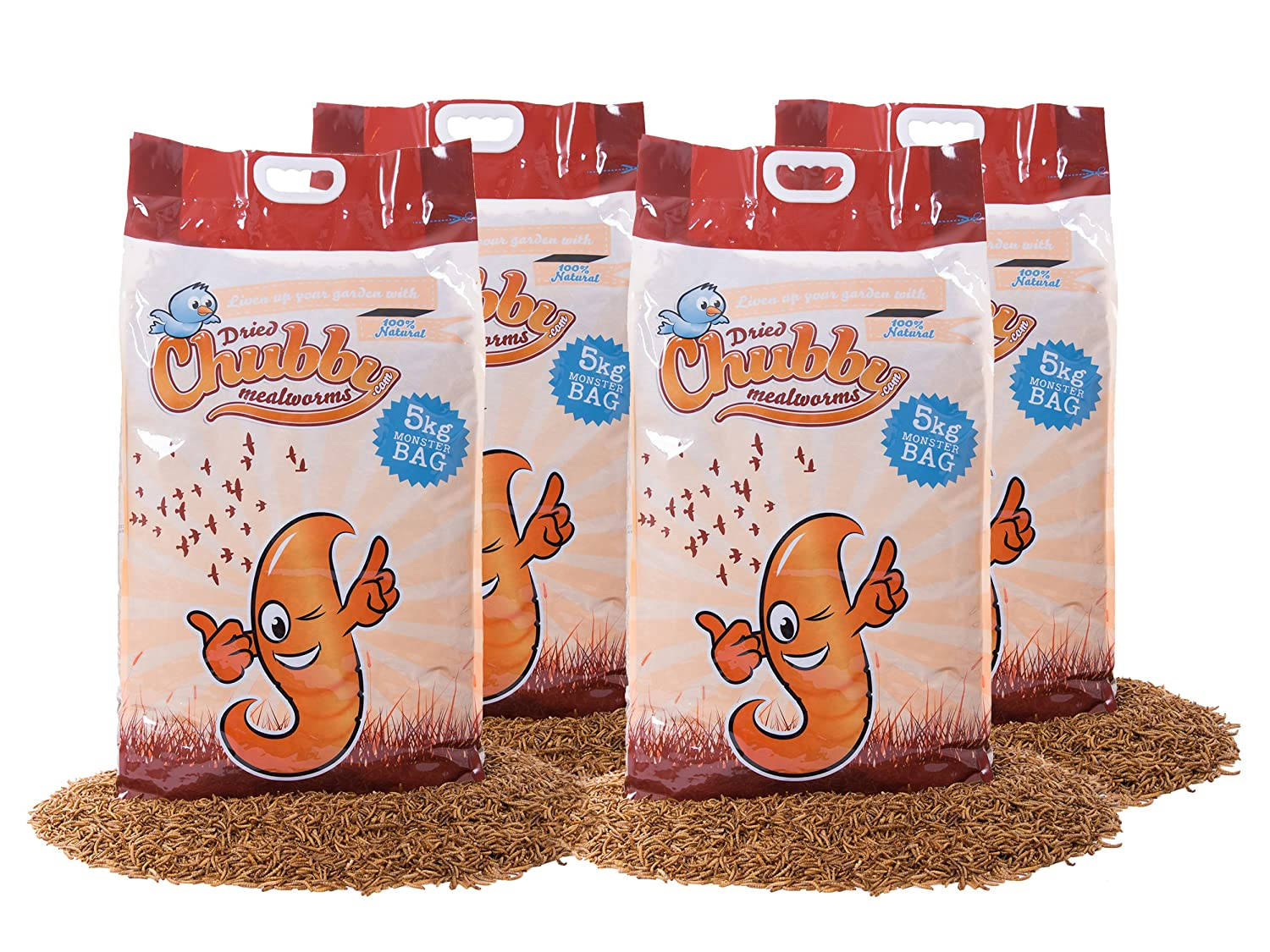 20Kg Chubby Dried Mealworms for Wild Birds Only