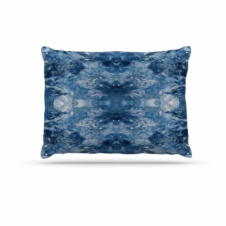 KESS InHouse EBI Emporium Tie Dye Helix, bluee White Dog Bed, 50  x 40