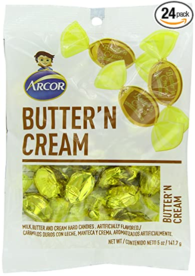 Arcor Butter N Cream Candy, 5 Ounce (Pack of ...