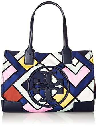 a755d66f630b Tory Burch Ella Mini Multicolor Nylon And Faux Leather Shoulder Bag ...