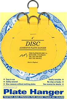 Flatirons Disc Adhesive Large Plate Hanger Set (4-4 Inch Hangers)  sc 1 st  Amazon.com & Amazon.com: Flatiron Disc Invisible Plate Hanger 5.5-Inch: Home ...