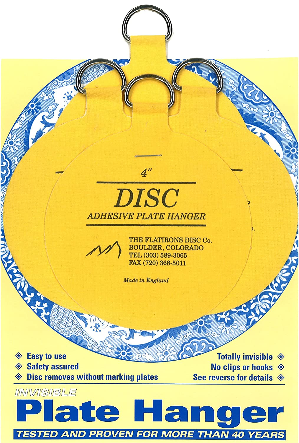 Flatirons Disc Adhesive Large Plate Hanger Set (4 - 4 Inch Hangers) - Picture Hanging Hardware - Amazon.com  sc 1 st  Amazon.com & Flatirons Disc Adhesive Large Plate Hanger Set (4 - 4 Inch Hangers ...