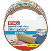 tesa Double-Sided Tape Universal, 5m x 50mm, wit