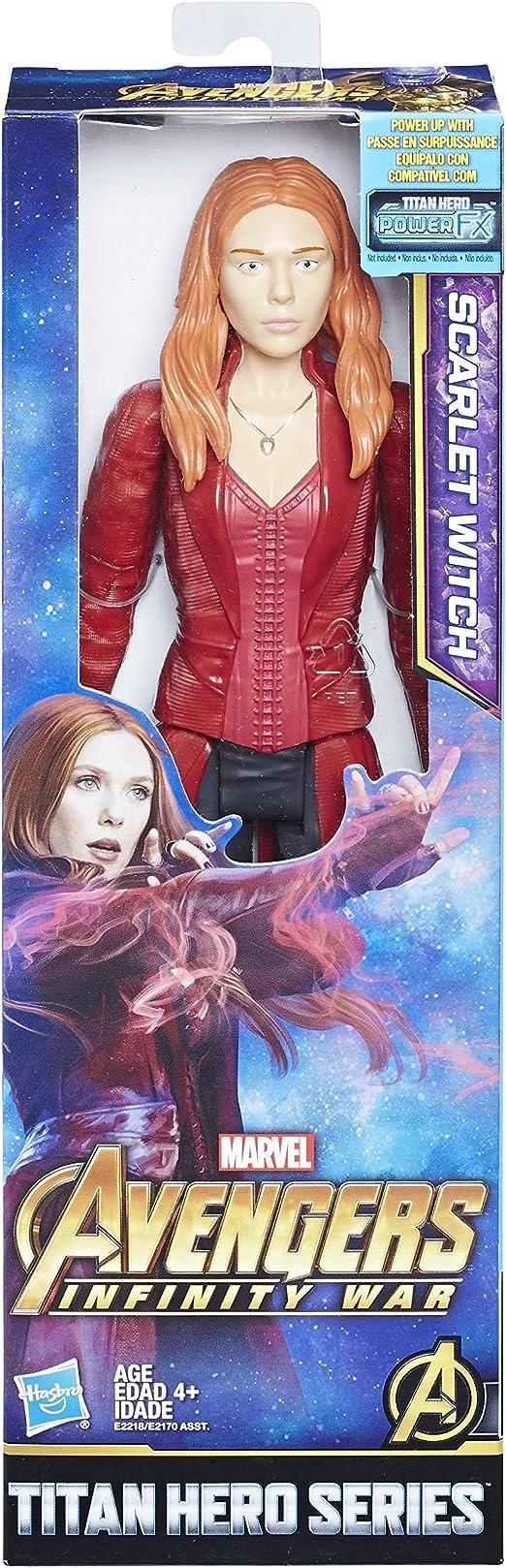 "Marvel Avengers Infinity War Scarlet Witch 12"" 2018 Titan Hero Series"