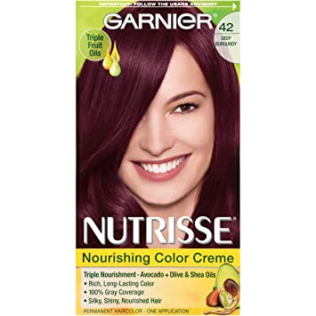 Amazon.com: Garnier Nutrisse Nourishing Hair Color Creme, 42 Deep ...