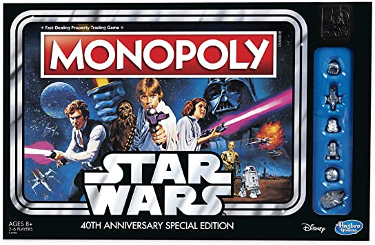 Hasbro Monopoly Game: Star Wars 40Th Anniversary Special Edition ...