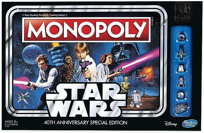 Hasbro Monopoly Game: Star Wars 40Th Anniversary Special Edition Simulación económica Niños y adultos - Juego de tablero (Simulación económica, Niños y adultos, Niño/niña, 8 año(s), 99 año(s), Inglés): Amazon.es: Juguetes y
