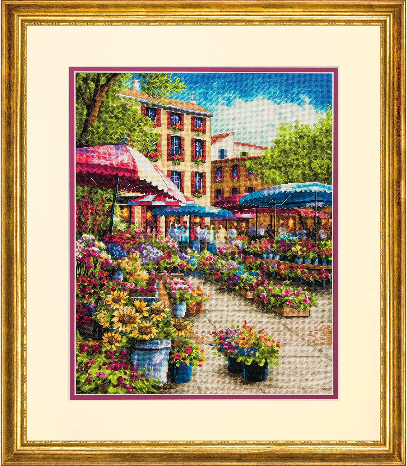 Counted Cross Stitch Kit CHARMING WATERWAY Dimensions Gold Collection