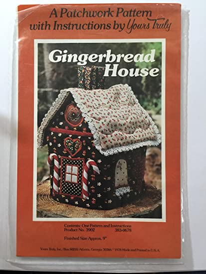 Amazon Com Gingerbread House 9 A Patchwork Sewing Pattern With