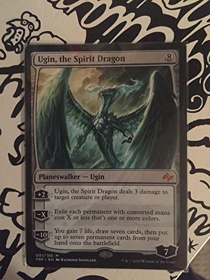 Amazon Com Magic The Gathering Ugin The Spirit Dragon 001 185
