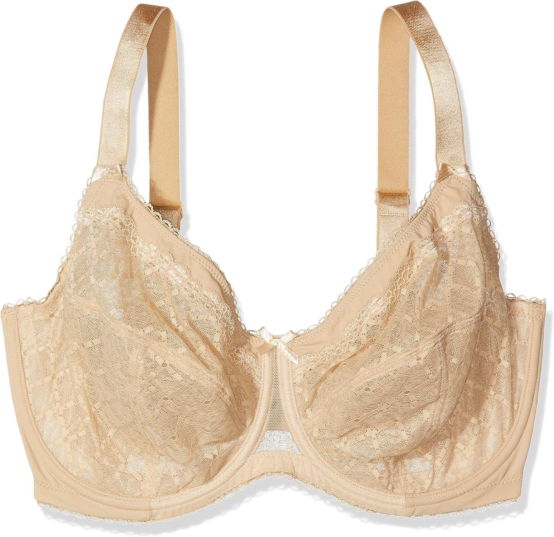 Glamorise Womens Full Figure Wonderwire Lace Bra #9845