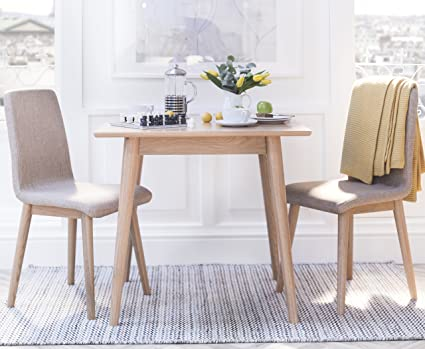 Sensational Edvard Olsen Oak Square Table Dining Set With Light Brown Upholstered Chairs Choice Of 2 Or 4 Chairs Stunning Scandi Dining Set Table 2 Chairs Andrewgaddart Wooden Chair Designs For Living Room Andrewgaddartcom
