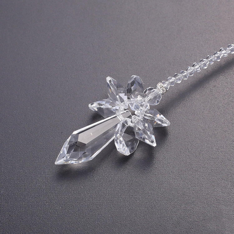Clear Anna Crystalworld Rainbow Guardian Angel Crystal Suncatcher for Home//Car Decoration /& Porch Decor /& Hangings Crystal Glass Ornament