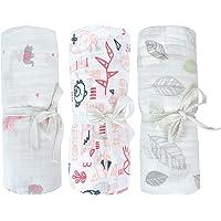 Perlimpinpin Muslin Swaddle Blanket – Canada's #1 Baby Blanket – Pack of 3