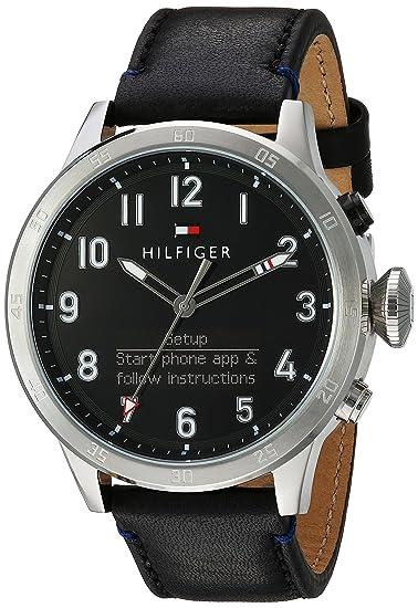Tommy Hilfiger Hombres de TH 24/7 DE Cuarzo Reloj Inteligente de Piel y