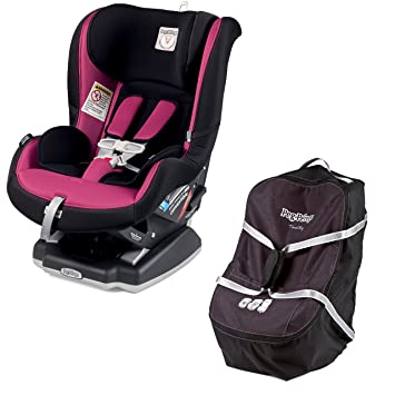 Peg Perego Convertible Car Seat 5 65 Fleur Raspberry Pink With Travel