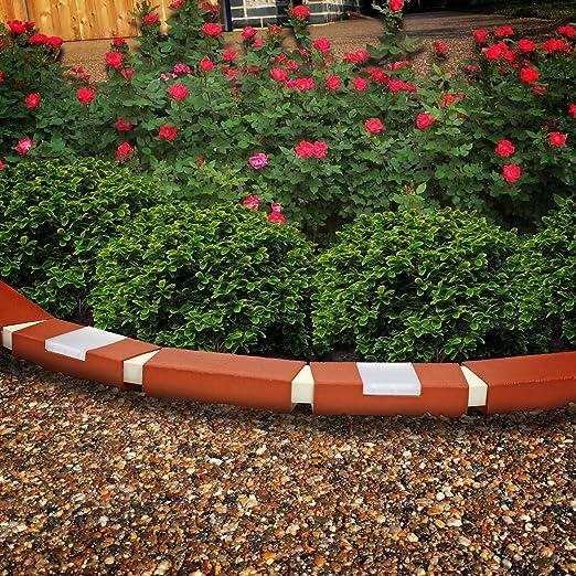 Parkland® 10 unidades efecto ladrillo de plástico Jardín Césped ...