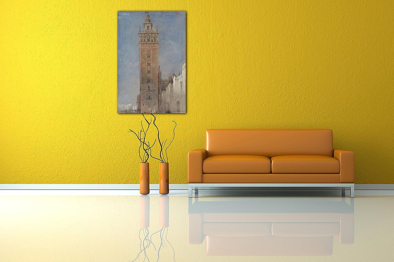 Printed Paintings Impresión Sobre Lienzo (60x80cm): David Roberts - La Giralda, Sevilla