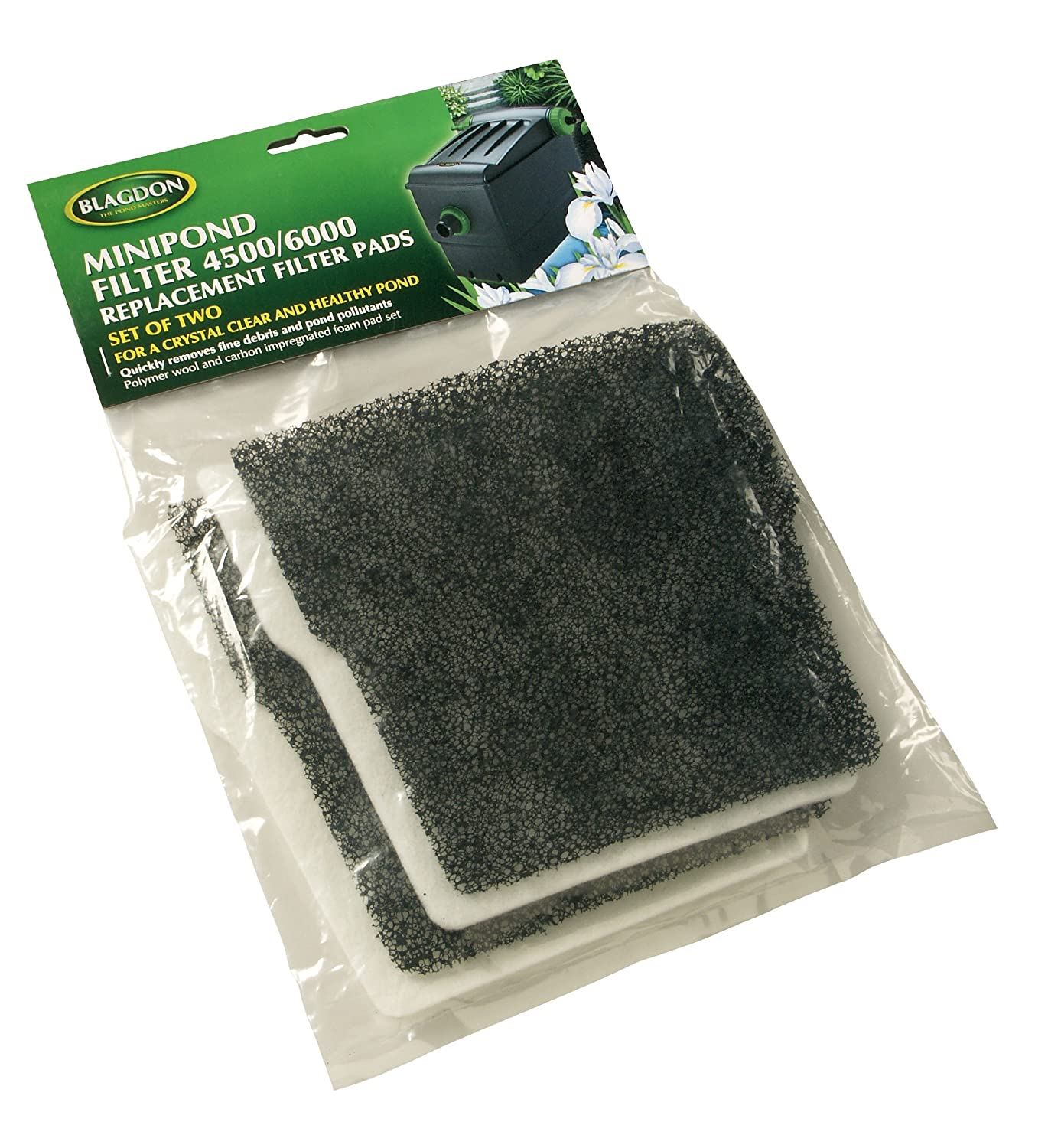 Blagdon Mini-Pond Carbon and Wool Replacement (Pack of 2) Interpet Ltd