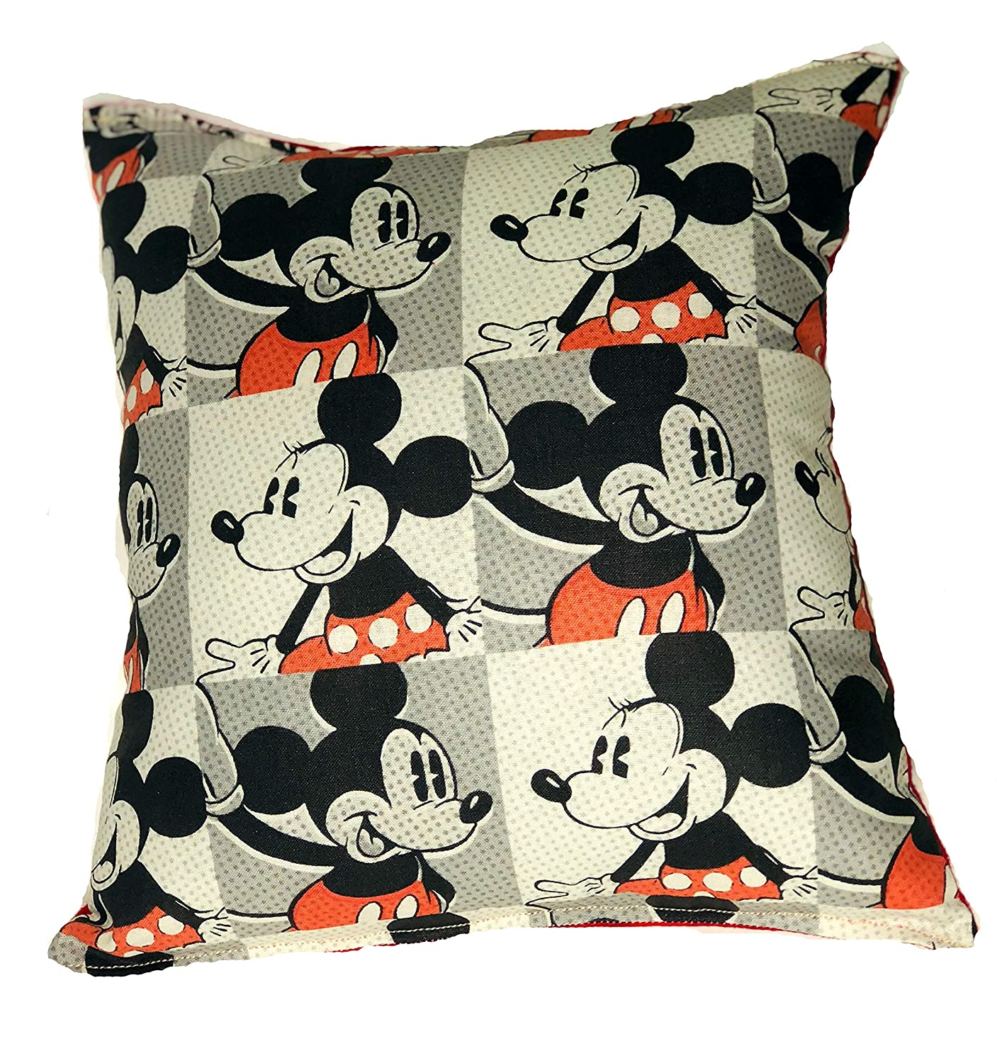 "MICKEY & MINNIE MOUSE Pillow HANDMADE Cotton/Flannel Toddler,Travel, Daycare Pillow is approximately 10"" X 11"
