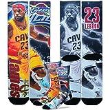 Cleveland Cavaliers 308S Lebron James Drive Mens Sublimated Crew Socks